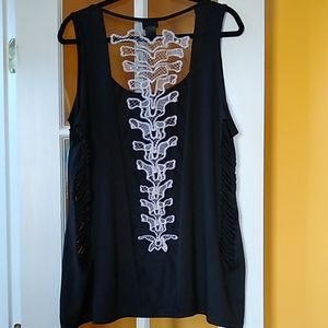 Torrid skeleton spine tank top